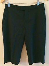 New Cllub Monaco Grace Shorts Italian Tropical Wool Size 0 in Soot Black