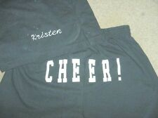 Personalized Black Cheer Printed Butt shorts Ladies Size Large Competition