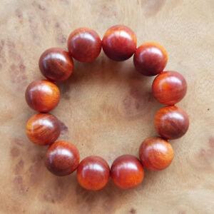 Superb 20 MM Translucent Beads Borneo Agathis Bracelet 12 Beads Raja Kayu #06