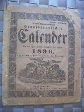 1890 John Baer's Sons Agricultural Almanac in GERMAN