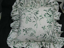 Summer Hill Fabric Pillow South China Seas Emerald Green Feather/Down Insert