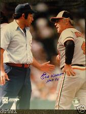 Baltimore Orioles Earl Weaver Autograph 16 x 20 Auto Photo w/ Umpire