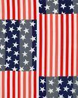 New Red White Blue Flag Patriotic Fashion Long Scarf  13 x 60