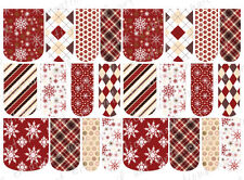 24 WATER SLIDE NAIL ART DECALS * VINTAGE CHRISTMAS ASSORTMENT* FULL NAIL COVERS