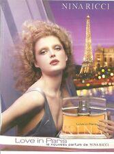 PUBLICITE 2011 NINA RICCI  parfum LOVE IN PARIS
