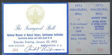 1973 RICHARD NIXION AUTOGRAPH UNUSED INAUGURAL BALL TICKET