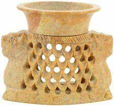 Stone Cat Face Design Aroma Oil Diffuser Wax Warmer Aromatherapy Item Handmade