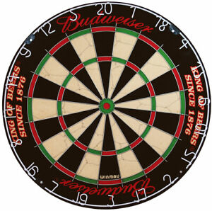 Winmau Budweiser Bristle Dartboard with Exclusive Budweiser graphics - Free P&P