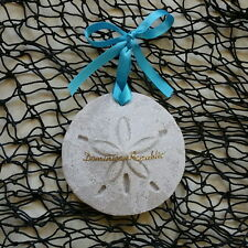 DOMINICAN REPUBLIC Sand Dollar Made with Sand Tropical Beach Ornament
