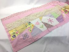 """18"""" X 70"""" Patchwork Pink Floral Window Valance Sophia Rose Hand Crafted Nursery"""