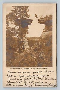 RPPC of Wisconsin Dells WI, Stand Rock, Wisconsin c1913 Postcard