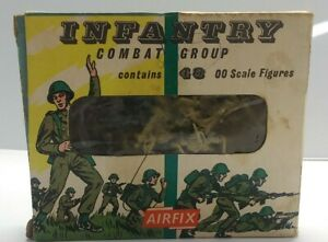NOS WW2 1950 Airfix Products S3 HO Scale Infantry Combat Group Pack of 48 Brits