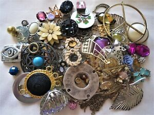 400g MIXED JEWELLERY MAKING FINDINGS, CONNECTORS, CHARMS, MIXED METAL
