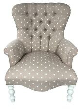 Gorgeous Chair Spotted Armchair Shabby Chic Beige *HANDMADE IN UK*