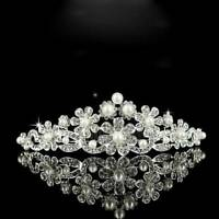 Bridal Princess Prom Hair Tiara Wedding Austrian Crystal Crown Headband