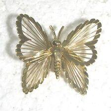 """pin 1.75"""" B47 Monet golden butterfly"""