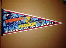 Super Bowl 32 NFL Football Green Bay Packers vs Denver Broncos Pennant
