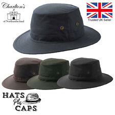 Wax Bush Hat Fedora British Made Waxed Cotton Water Repellent Luxury Traveller