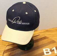 VERY NICE PACIFIC CATARACT & LASER INSTITUTE HAT DARK BLUE & BEIGE ADJUSTABLE