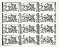 1971 STRIKE MAIL BANNOCKBURN 5/- BLACK COMMEMORATIVES FULL SHEET OF 12 MNH