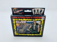 G.I Joe A Real American Hero .VS. Cobra 2 Deck Playing Cards Collectible Tin
