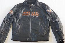 Harley Davidson Men Alternator Swithchback Black Leather Jacket 2n1 L 98117-08VM