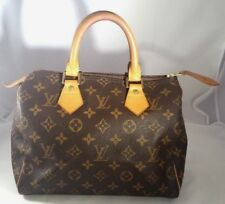 Louis Vuitton Speedy 25 Monogram Canvas Boston Hand Bag France Authentic Yr 2005