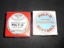 Diamond D-100 Traditional Flight Poly D Official Softball Brand New Lot Of 2