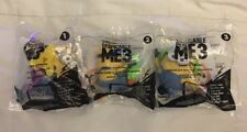 Set Of 3 McDonald's 2017 DESPICABLE ME 3 Happy Meal Toys MINIONS #1, #2, #3 New!