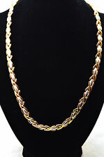 """LADIES 19.5"""" GOLD & SILVER HUGS 'N KISSES HEALING MAGNETIC LINK NECKLACE 4 Pain!"""