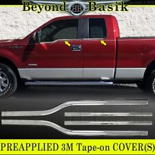 2004-2014 Ford F150 F-150 4Dr Extended Super Cab Chrome Window Sill Trims Covers