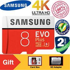 SAMSUNG EVO Plus 8GB MicroSD Micro SDXC C10 Flash Memory Card w/ SD Adapter