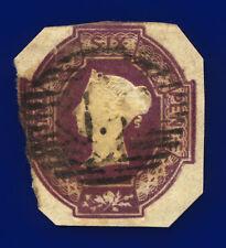 More details for 1854 sg60 6d purple 3 margins h3(3) london good used cat £1000 crwy