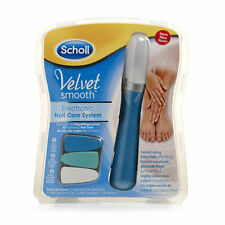 Scholl Velvet Smooth Nail Care System - Blue  Electric Nail File Buffer