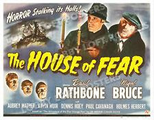 THE HOUSE OF FEAR LOBBY CARD POSTER HS 1945 SHERLOCK HOLMES BASIL RATHBONE