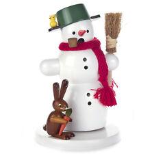 Winter Wonderland Snowman Incense Burner Smoker Made In Germany