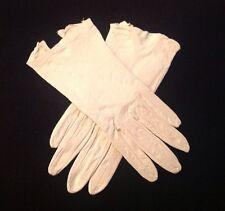Mid Century Pair of White Leather Women's Debutante Gloves
