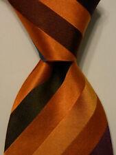 CHARLES TYRWHITT Men's 100% Silk Necktie ITALY Luxury STRIPED Multi-Colored EUC