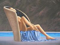 Patrick LE HEC'H : La piscine - LITHOGRAPHIE Originale signée, 350 ex