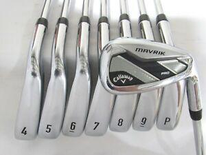 Used RH Callaway Mavrik MAX Iron Set 4-P,A Regular Flex Steel Shafts