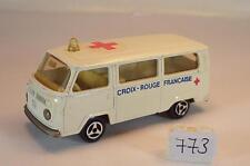 Majorette 1/60 Nr. 244 VW Volkswagen T2 Fourgon Bus Croix Rouge Francaise N2#773