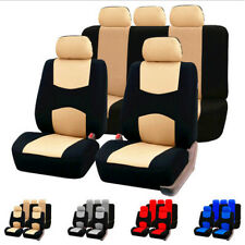 Universal Auto Car Seat Covers Beige Mat Cushion Pad Full Set for 4 Season