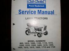 Cub Cadet Power Equipment Service Manual Lawn Tractors