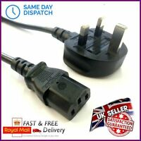 Studio Monitor Speaker Power Cable Mains Cord Wire Kettle Lead UK Plug 2m