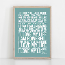 More details for robbie williams love my life song lyrics poster print wall art