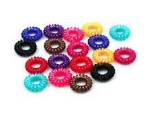12 Pcs telephone line Hair Bands random color Women Ponytail Hair Accessories
