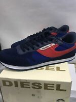 New DIESEL DENIM (KURSAL) Men Running Shoes BLUE / RED Pick your Size
