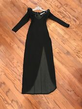 Vintage Lillie Rubin Goth Black Costume Ball Gown Dress Size S Rhinestone
