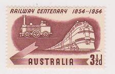 (OR-257) 1954 AU 3½d rail way centenary MUH SG278 (E)