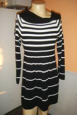 WHITE HOUSE BLACK MARKET sz XL Off The Shoulder Striped SWEATER DRESS